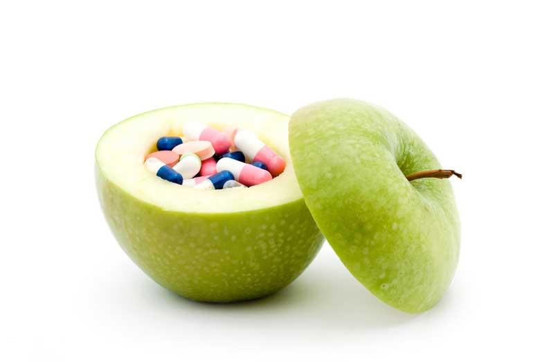 χάπια, μήλο