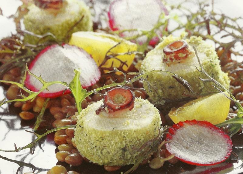 Χταπόδι σε κρούστα με αρωματικά βότανα συνταγή