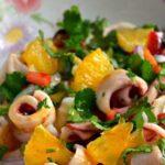 Σαλάτα με Καλαμάρι, Φινόκιο και Πορτοκάλι