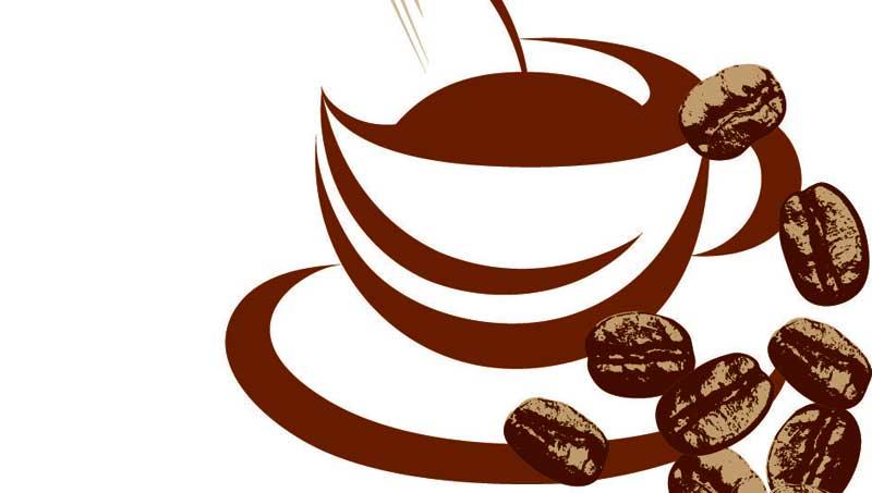 κούπα καφέ, κόκκοι καφέ