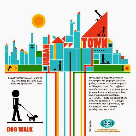 αφίσα σκύλος βόλτα