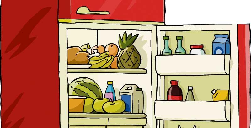 λαχανικά, φρούτα, ψυγείο