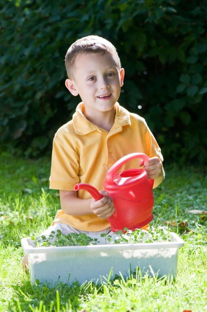 kid, gardening
