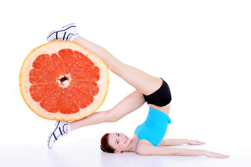 woman, cellulite, orange, legs