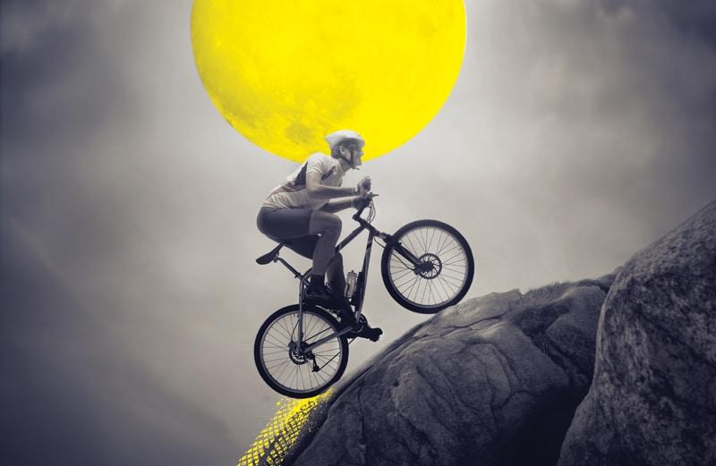 man, mountain bike-Με το ποδήλατο πάω παντού!