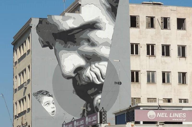 PIRAEUS-GRAFFITI-Νέο γκράφιτι στον Πειραιά: We Have The Power