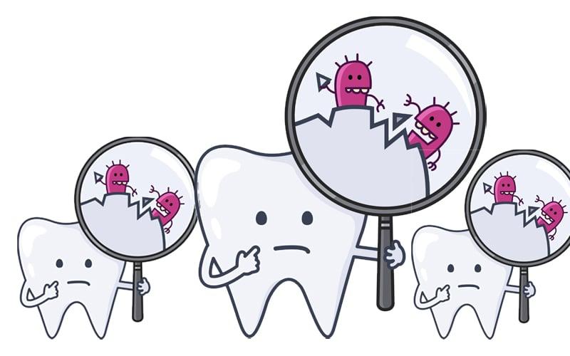 teeth&bacteria-Πότε χαλάει η ζάχαρη τα δόντια;