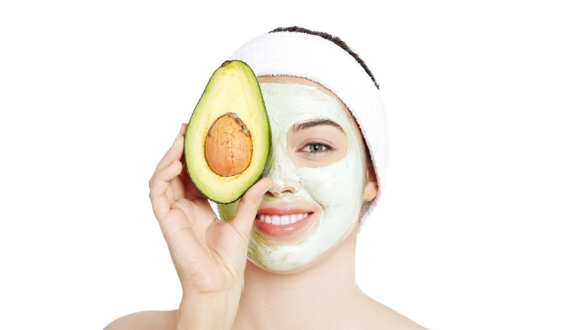 avocado,woman,facemask