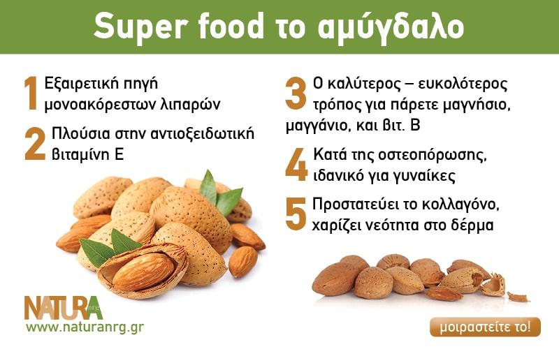 Super food το αμύγδαλο