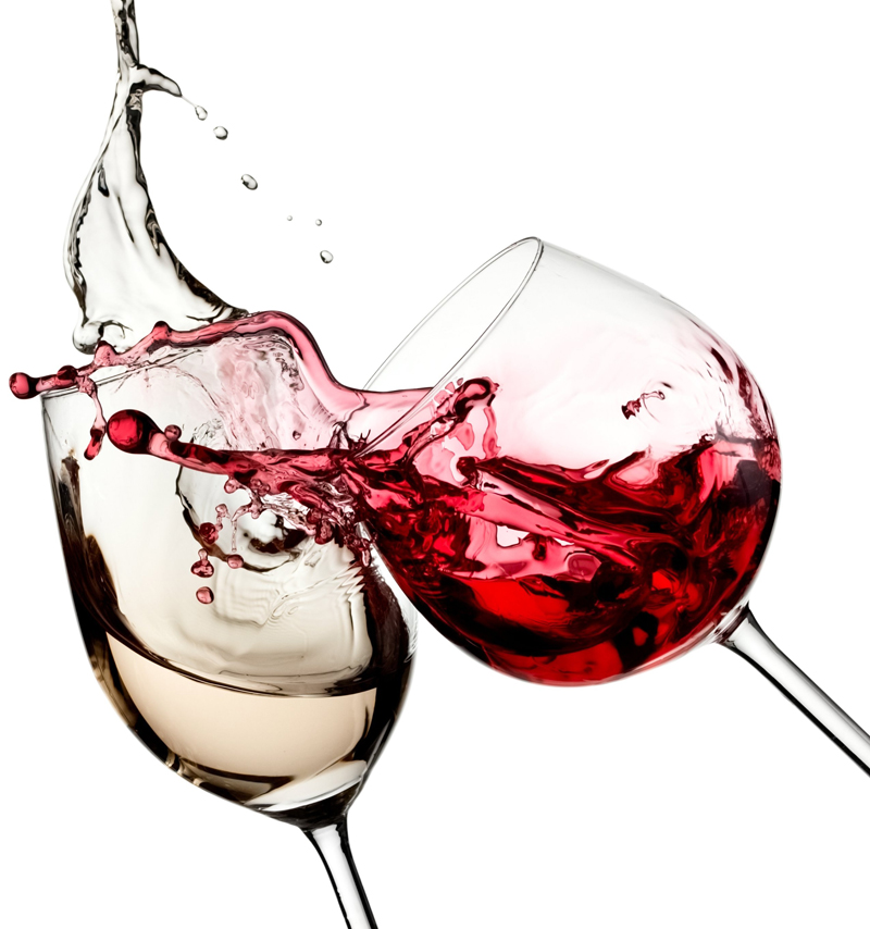 red&white wine