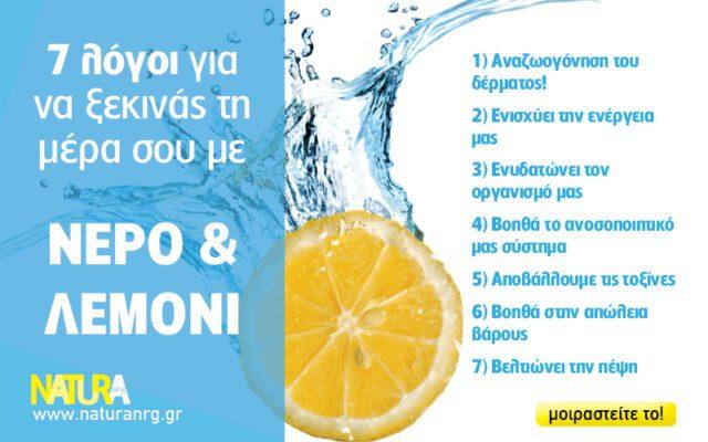 7 λόγοι για να ξεκινάς τη μέρα σου με νερό και λεμόνι