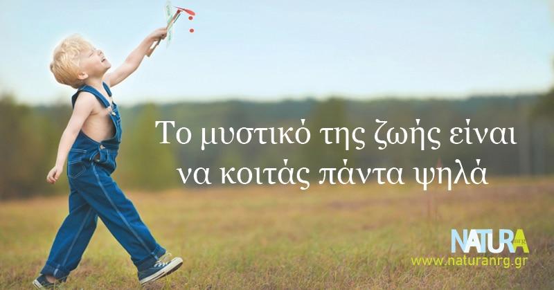 Το μυστικό της ζωής είναι να κοιτάς μπροστά!