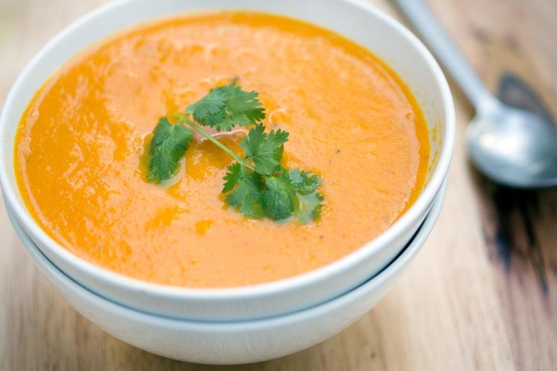 Σούπα με καρότο και τζίντζερ-naturanrg