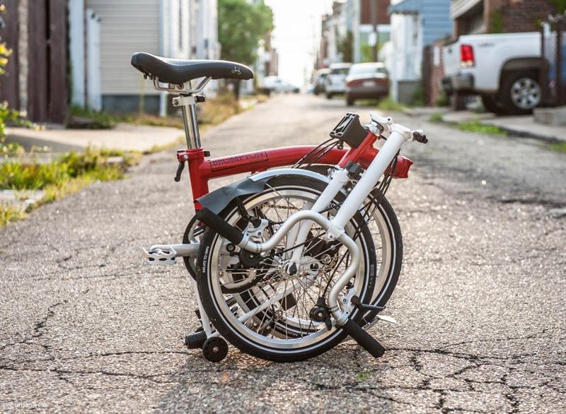 folding bike-city