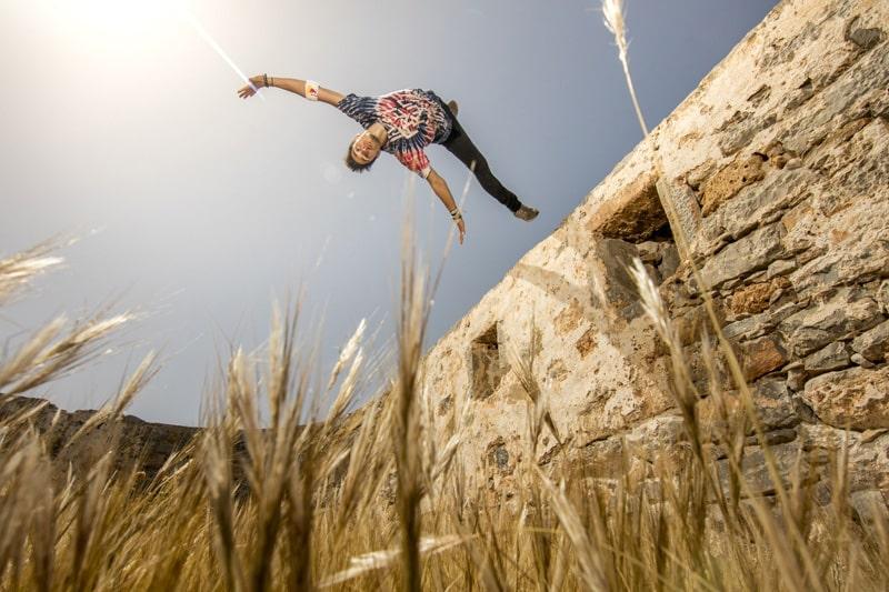 Freerunning στη Σπιναλόγκα