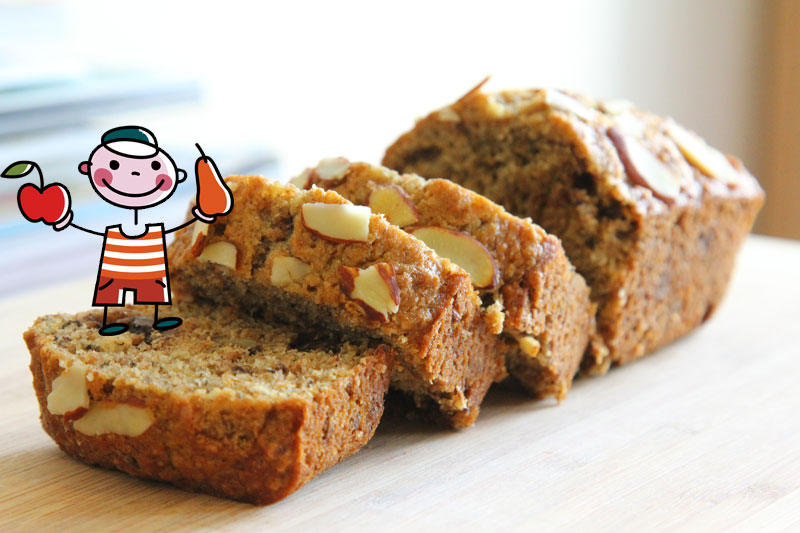 natura-nrg-vegan-cake-banana Κέικ Μπανάνα - Αμύγδαλο