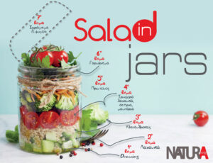 Salads in Jars/ Βάλτε τη σαλάτα στο βάζο