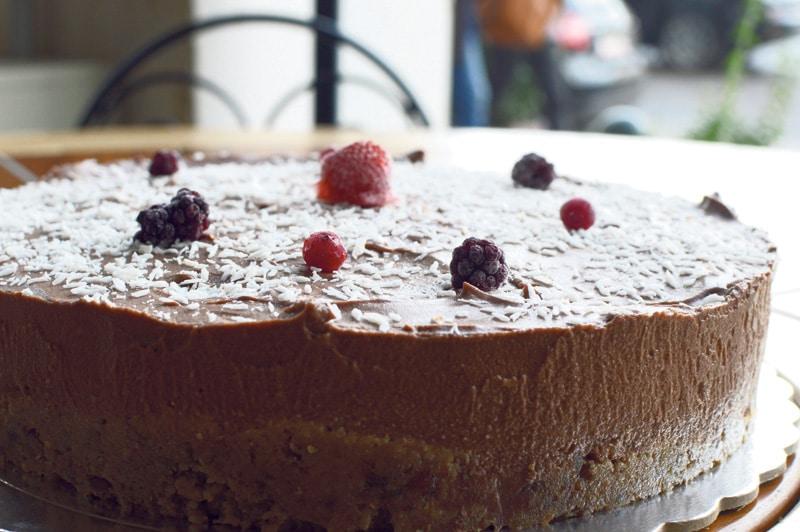 Vegan τούρτα σοκολάτα φουντούκι - συνταγή