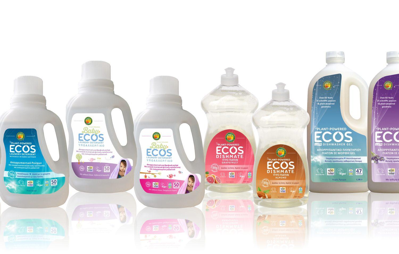 ECOS: Τα Νο 1 πράσινα απορρυπαντικά παράγονται πλέον και στην Ελλάδα.