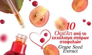 10 θαυματουργά οφέλη από το εκχύλισμα σπόρων σταφυλιών (Grape Seed Exract)