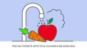 Πώς να πλένετε φρούτα και λαχανικά με ασφάλεια