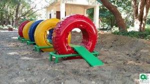 Παιδικές χαρές από ελαστικά και «σκουπίδια»